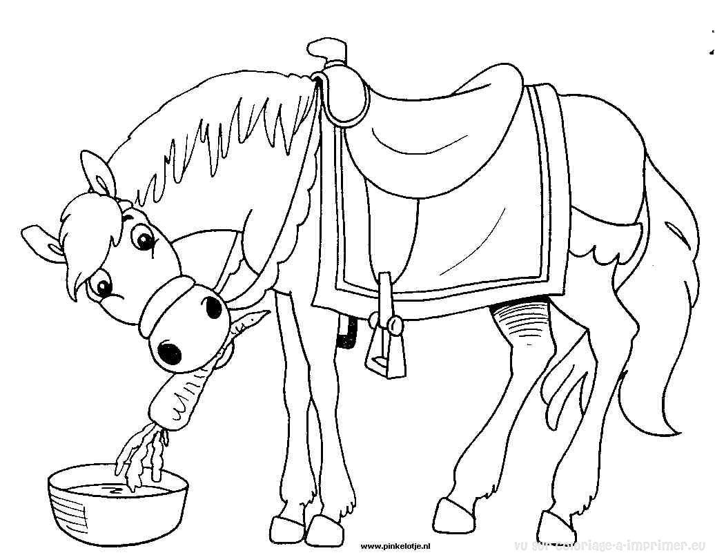 Coloriage imprimer coloriage chevaux 025 - Coloriage de chevaux ...