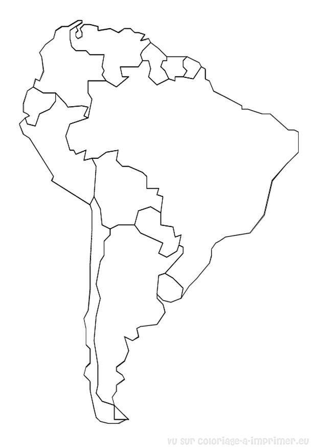 Coloriage à Imprimer Coloriage Cartes Geographie Monde