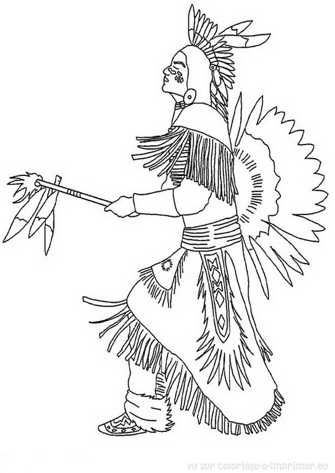Coloriage imprimer coloriage indiens 008 for Iroquois coloring pages