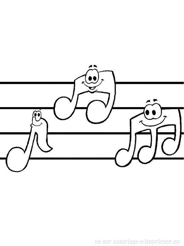 dessin note de musique a imprimer