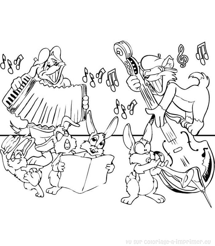 instruments coloring pages - photo#47