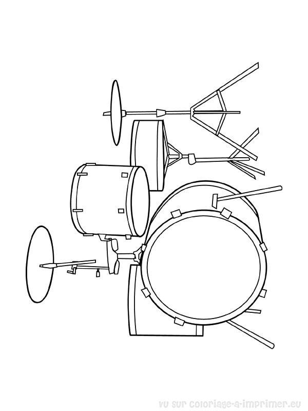 Coloriage imprimer coloriage instruments de musique 046 - Image instrument de musique a colorier ...