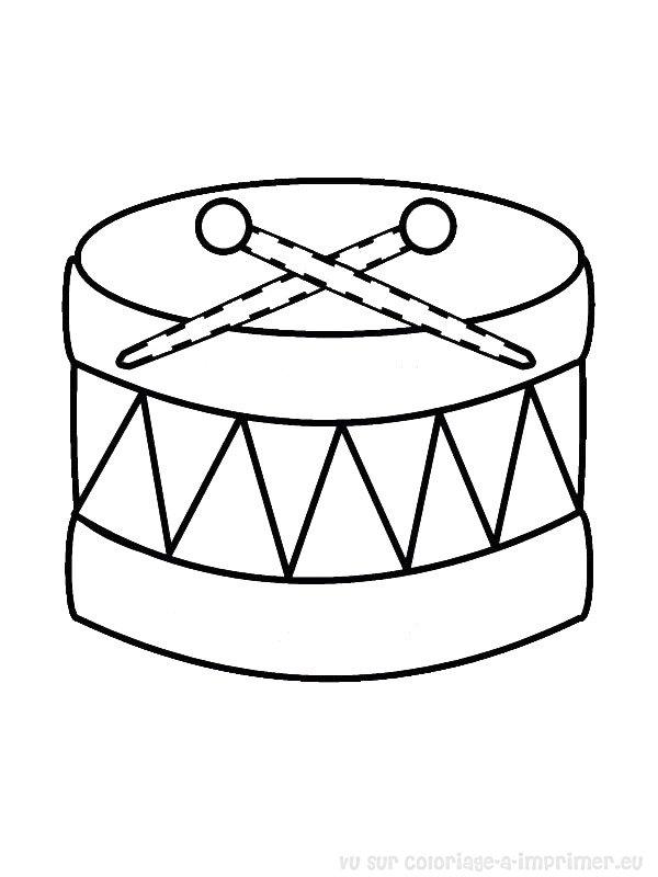 Coloriage à Imprimer Coloriage Instruments De Musique 053