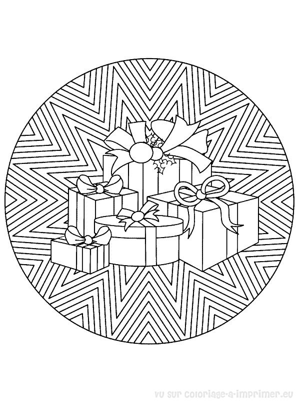 Coloriage imprimer coloriage mandala noel 027 - Coloriage de mandala de noel ...