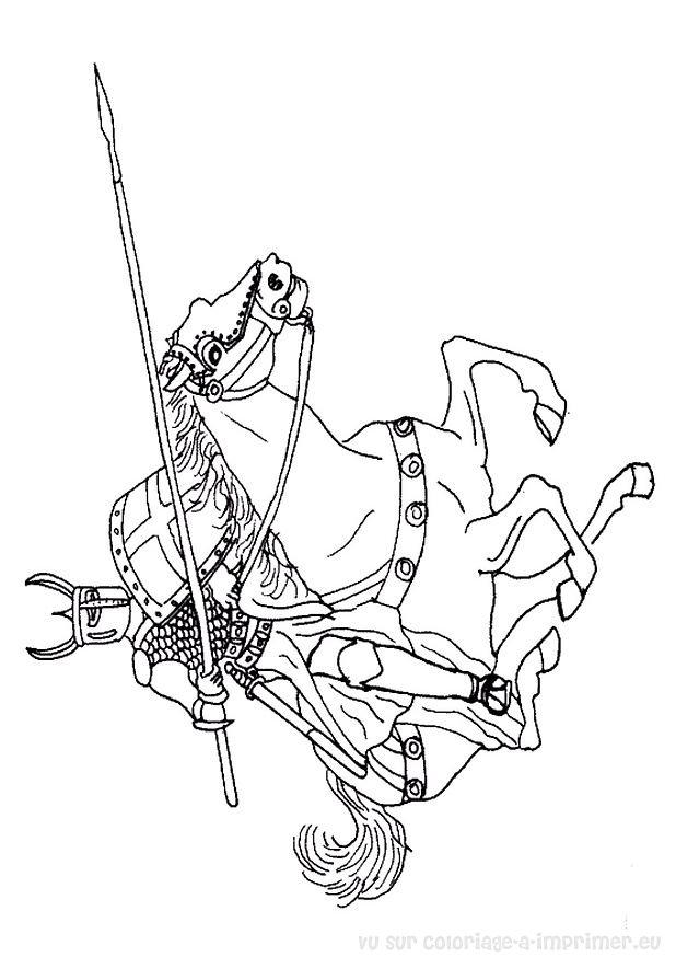 coloriage à imprimer coloriage chevaliers 013