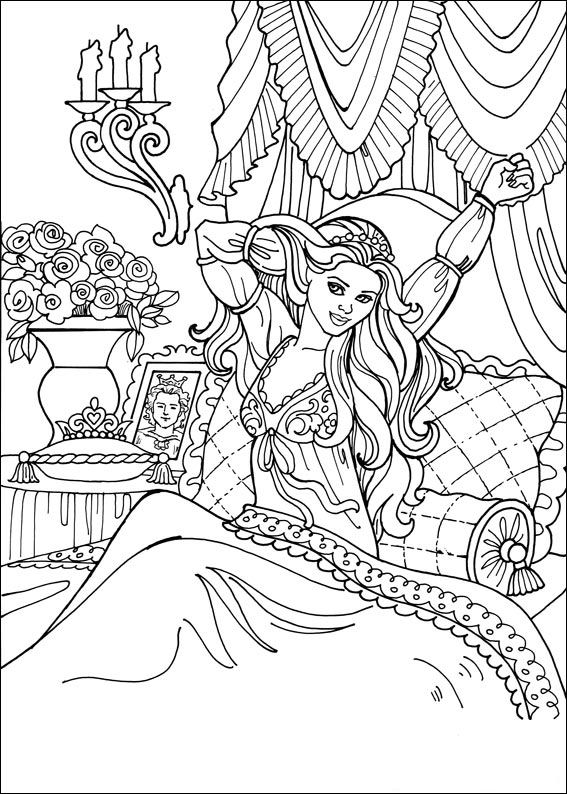 coloriage princesse - Coloriages Princesse