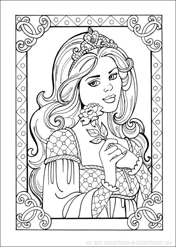 Imprimer Un Coloriage De Princesse.Coloriage A Imprimer Coloriage Princesse Leonora 005