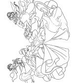 coloriage princesses disney 001