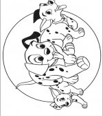 coloriage 101 Dalmatiers 000