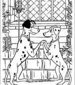 coloriage 101 Dalmatiers 001