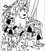 coloriage 101 Dalmatiers 002