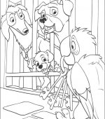 coloriage 101 Dalmatiers 004