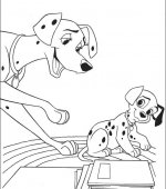 coloriage 101 Dalmatiers 009