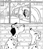 coloriage 101 Dalmatiers 011