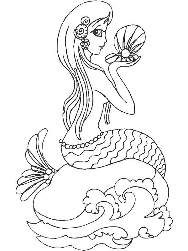 Index Of Coloriages Films Ariel La Petite Sirene Mermaid