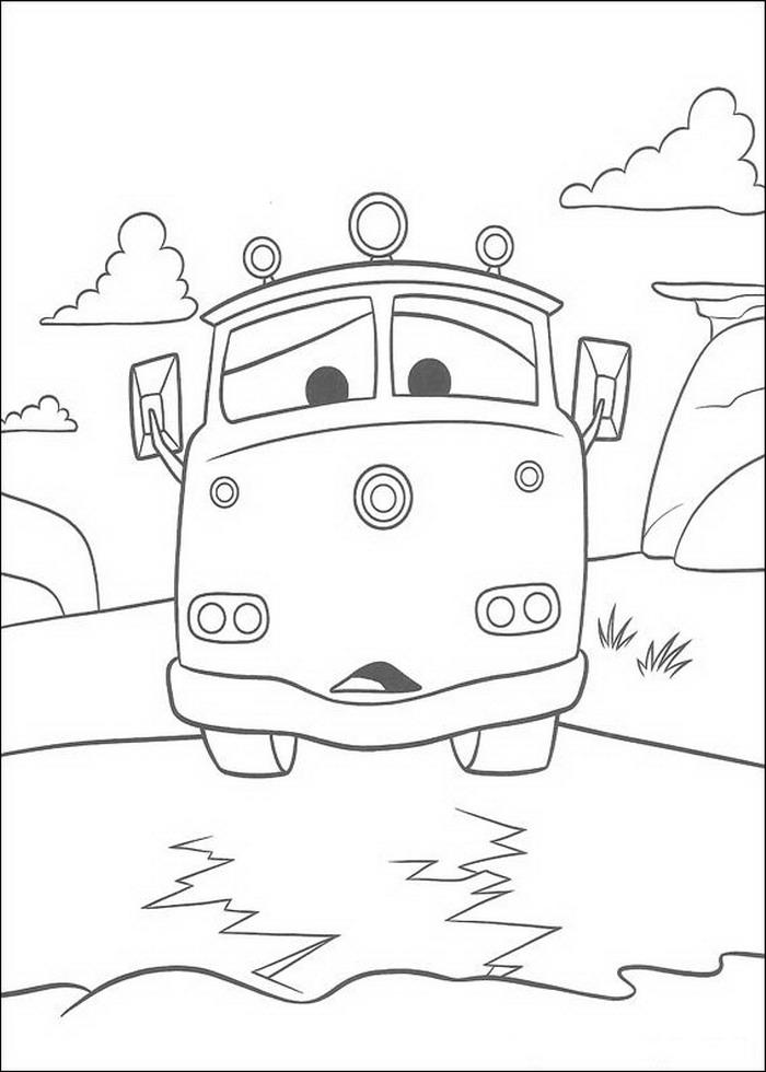 Coloriage Cars Flo.Index Of Coloriages Films Cars Quatre Roues Pixar