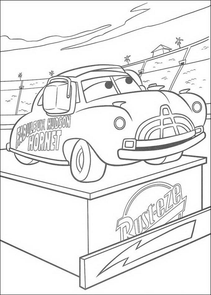 Coloriage Cars Doc Hudson.Index Of Coloriages Films Cars Quatre Roues Pixar