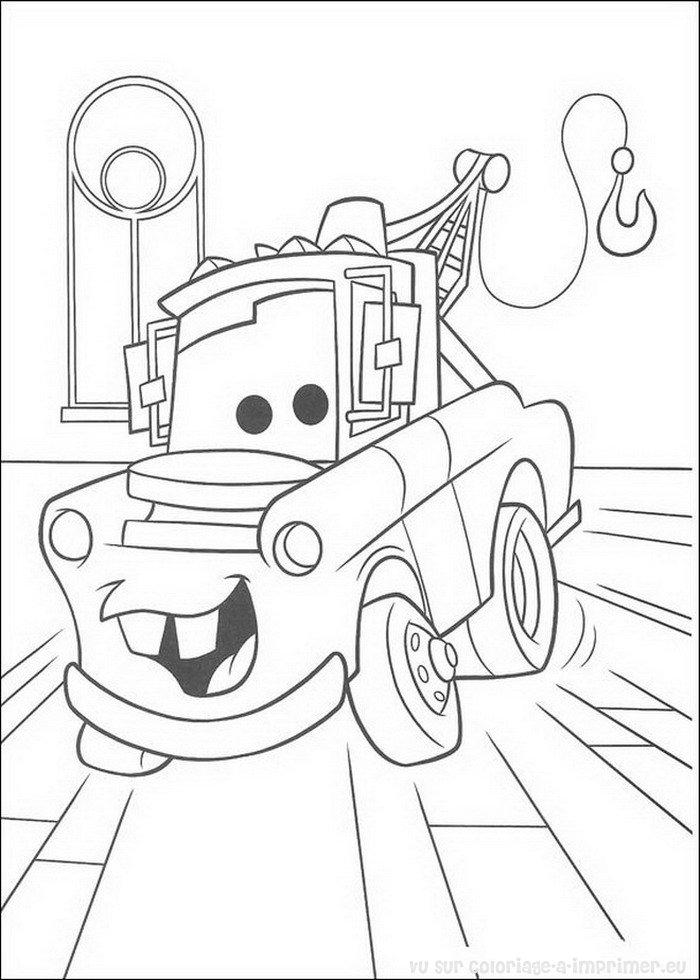 Coloriage imprimer coloriage cars quatre roues pixar 035 - Coloriage pixar ...