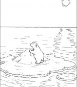 Coloriage plume le petit ours polaire gratuit a imprimer - Plume le petit ours polaire ...