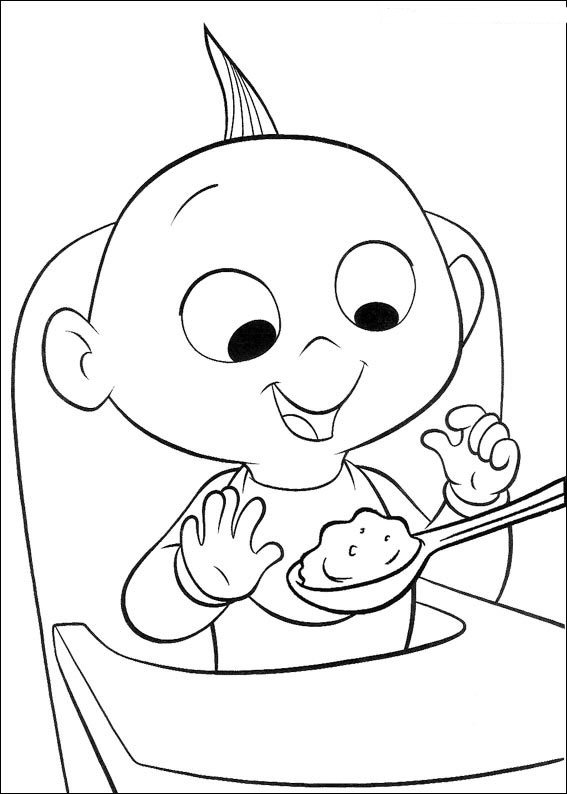 Coloriage Disney Baby.Index Of Coloriages Films Les Incredibles