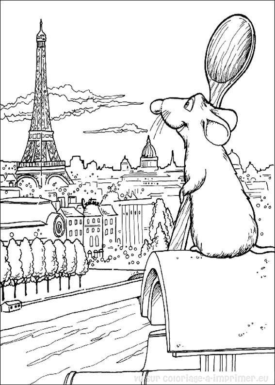 Coloriage Facile Ratatouille.Coloriage A Imprimer Coloriage Ratatouille 054