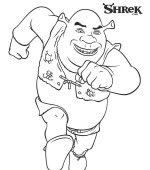 coloriage shrek-3 001