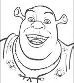 coloriage shrek 014