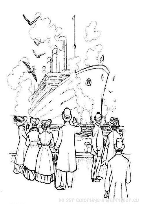Coloriage titanic - Dessin du titanic ...