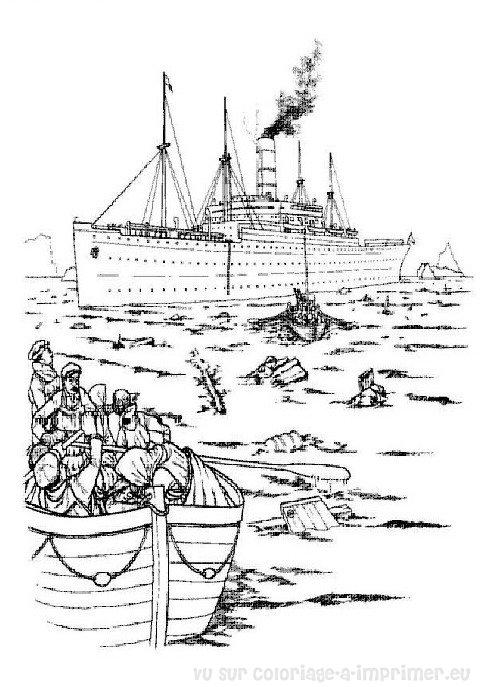 Coloriage imprimer coloriage titanic 017 - Coloriage titanic ...