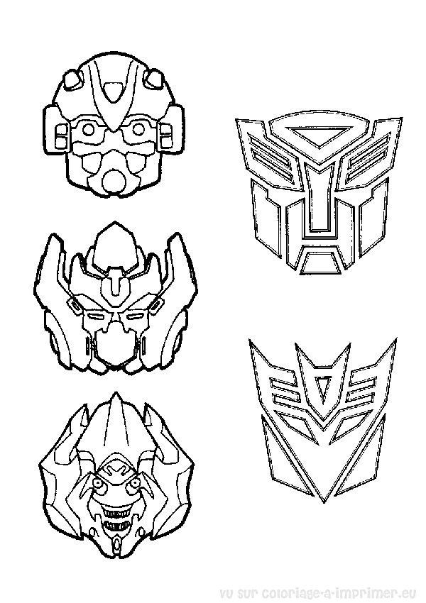 Coloriage à Imprimer Coloriage Transformers 002