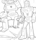 coloriage transformers 001