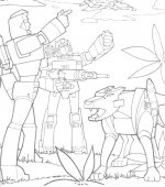 coloriage transformers 003