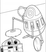 coloriage wall-e 008