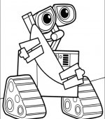 coloriage wall-e 046