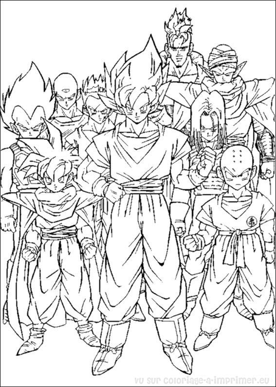 Coloriage à Imprimer Coloriage Dragon Ball Z 007
