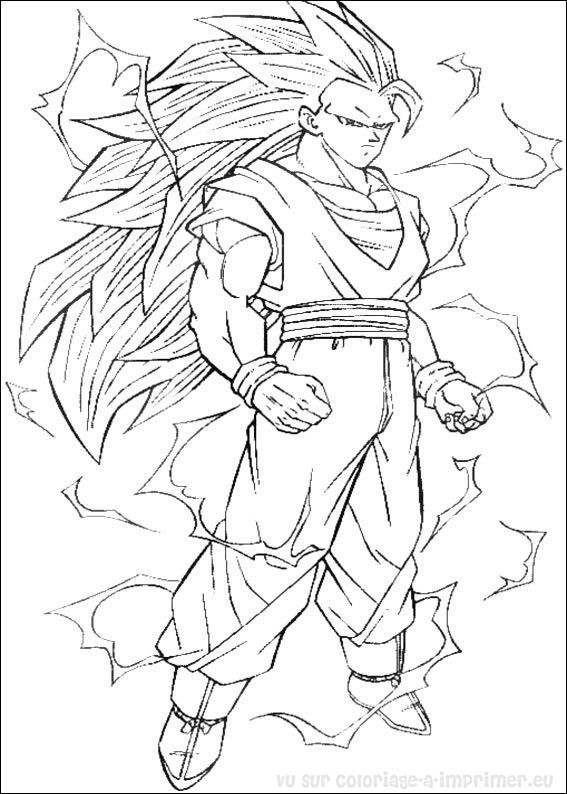 Coloriage imprimer coloriage dragon ball z 008 - Coloriage dragon ball z sangoku ...