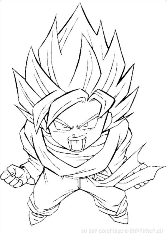 Coloriage à Imprimer Coloriage Dragon Ball Z 009