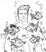 coloriage aquaman 011