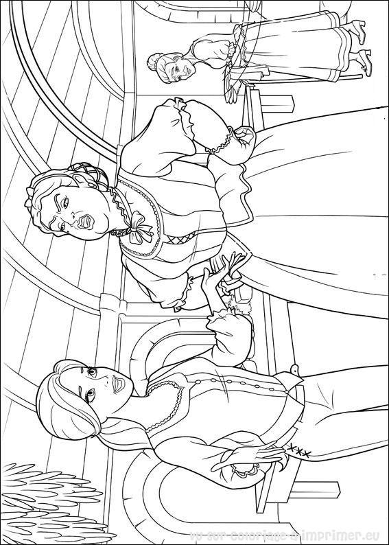 Coloriage barbie et les trois mousquetaires - Barbie les 3 mousquetaires ...