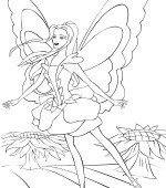 coloriage barbie fairytopia 010