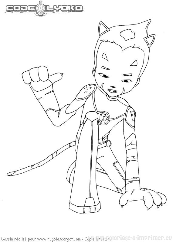 Code Lyoko Coloring Pages
