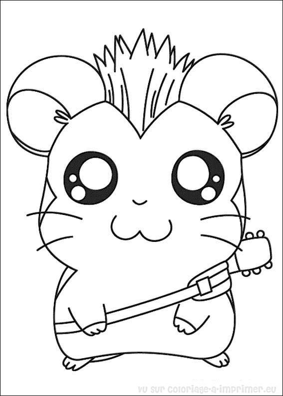 Coloriage A Imprimer Coloriage Hamtaro Petits Hamsters 020