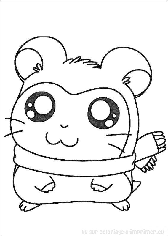 Coloriage Imprimer Hamtaro Petits Hamsters