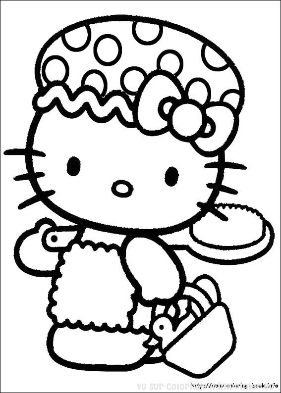 Dessin de hello kitty - Coloriage hello kitty ...