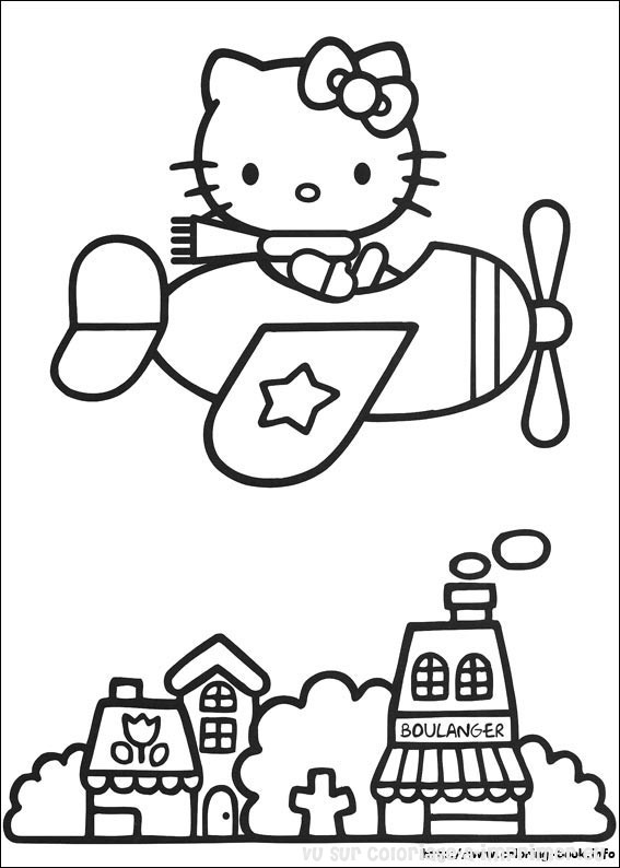 Imprimer Eu   O Kitty   Coloriage De Coloriage O Kitty 028