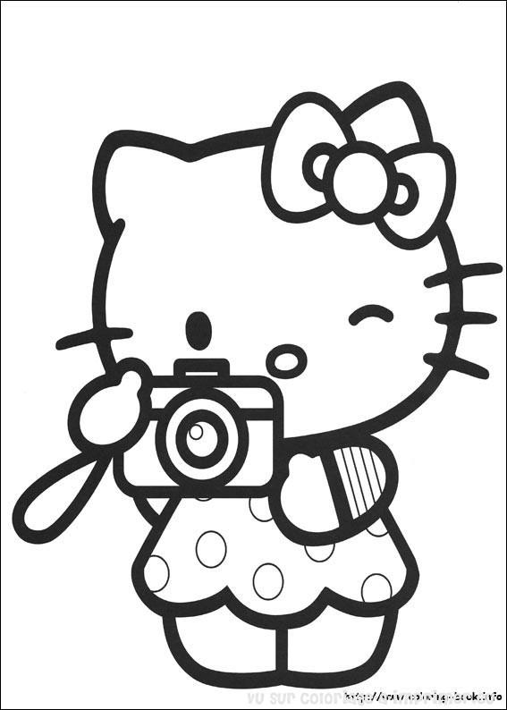 Coloriage à Imprimer Coloriage Hello Kitty 033