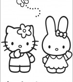 coloriage hello kitty 013