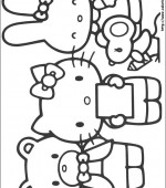 coloriage hello kitty 017