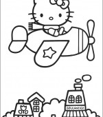 coloriage hello kitty 028