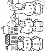 coloriage hello kitty 030
